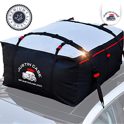 JUSTINCASE Rooftop Cargo Carrier - Car Top Carrier – Roof Bag -19...