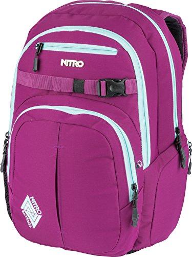 Nitro Chase Rucksack, Schulrucksack mit Organizer, Schoolbag, Daypack mit 17 Zoll Laptopfach, Grateful Pink , 35L