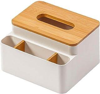 Porte-feuille Boîte de rangement de bureau serviette distributeur Organisateur bambou couvercle Container abricot, Cuisine...