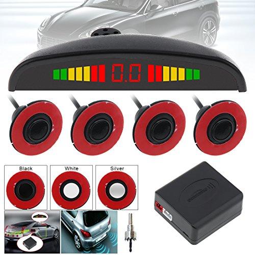 Benwei capteurs de 4 pcs 16 mm original de voiture Plat Capteur de stationnement Crescent Auto Reverse sauvegarde Système de détecteur de radar avec écran LED pour voitures