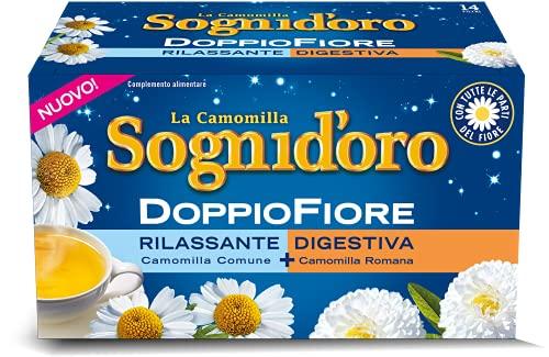 Sogni Doro Camomilla Doppio Fiore Rilassante E Digestiva 14filtri, color Oro, 25.2 g