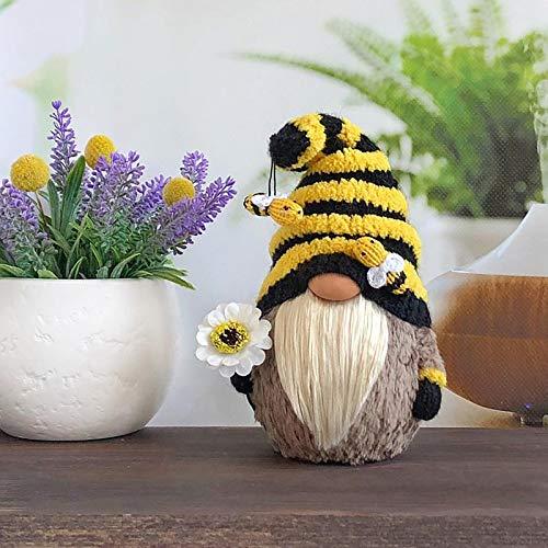 Bumble Bee Striped GNOME Skandinavier Tomte Nisse Schwedische Honigbienenelfen nach Hause (22/8.6