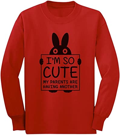 Im So Cute My Parents are Having Another Funny Toddler Hoodie 5//6 Gray TeeStars