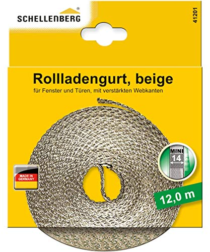 Schellenberg 41201 Sangle de volet roulant Beige 14 mm 12,0 m