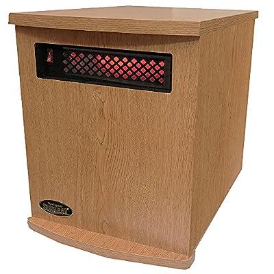 SunHeat USA Infrared Heater 1500 Watt Oak Finish