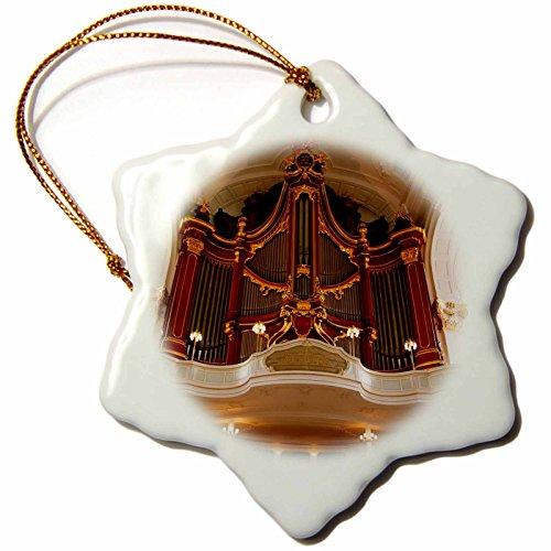 3dRose Germany, Hamburg. St. Michaels Church organ pipes. - Snowflake Ornament, 3-inch (orn_248685_1)