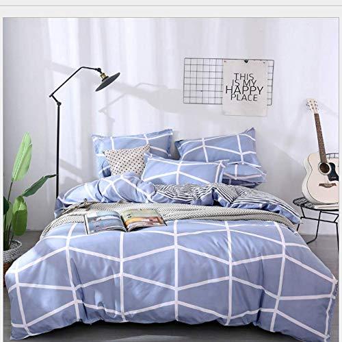 HDBUJ beddengoed van zacht polyester, bedrukt, met twee kussenslopen, wit