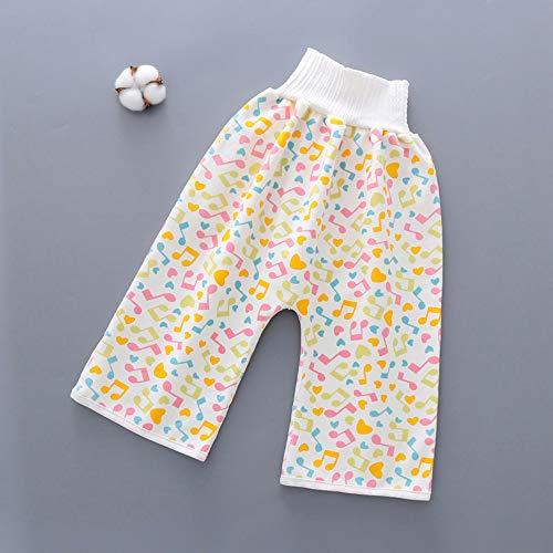 ChicSoleil Kinderwindelrockshorts elastische Kinderwindeln mit hoher Taille 2 in 1 waschbare Baumwolle Tainingswindelhose Babyhose Shorts für Kleinkinder Baby, 4-12 Jahre alt(#5)