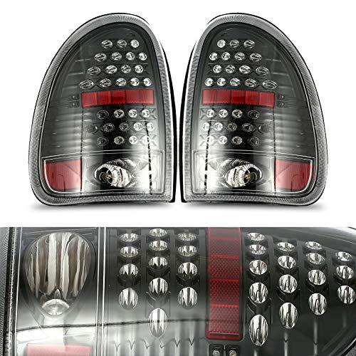 ROADFAR – Conjunto de luces traseras, color negro y transparente para el conductor y el pasajero,…