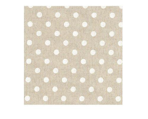 Tissu au métre enduit antitache romantic blanc 140cm