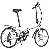 GWZZ Deportes al Aire Libre de aleación de Aluminio de Bicicletas Plegables,White