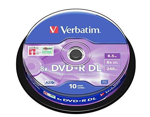 Verbatim DVD+R 8.5Gb 8x D/L Spindle 10 No 43666