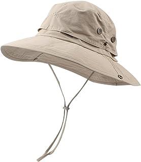 0f37e02a Men Women Outdoor Sport Hat with Wide Brim Sun Protection UPF 50+ Summer Mesh  Cap