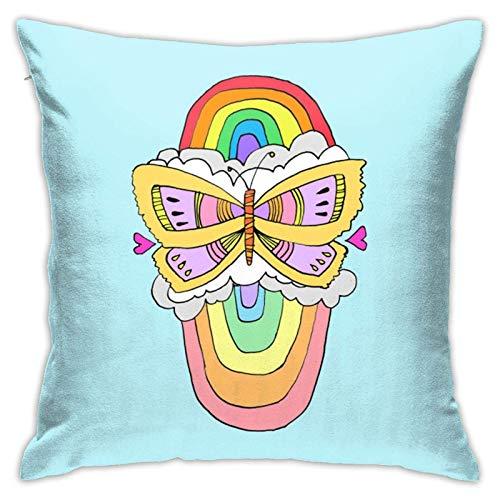 Wurfkissen mit Kisseneinlage, doppeltes Regenbogenkissen, Heimdekoration für Schlafcouch, Sofa, 45,7 x 45,7 cm