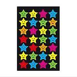 BLOUR 6 Hojas/Set Colorido Negro Sonrisa Cara Estrella Digital Globo Pegatinas Calcomanía Niños Niños Maestro Alabanza Mérito Oficina WYQ