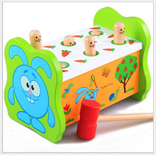 KLEIN Design, Pounding Bench Banco Trabajo martillar Madera con Mazo, hermoso y colorido diseño, para niños mayores de 18 meses.