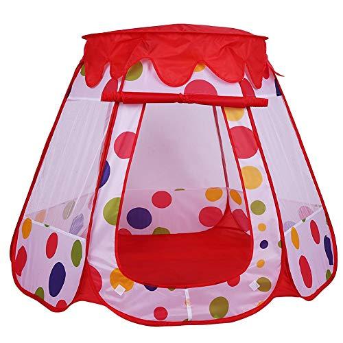 1PC Kindentent Speeltent Draagbaar Opvouwbaar Buiten Kamperen & Binnenspel Kinderen Speelhuisje Speelgoed Verjaardagscadeau, 110 x 110 x 90cm(#3 Red)
