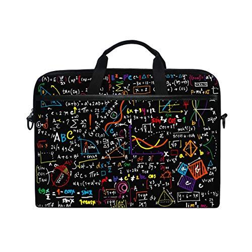 HaJie, borsa per computer portatile educazione geometrica formula matematica 35,6-36,8 cm, borsa protettiva da viaggio con tracolla per uomini, donne, ragazzi e ragazze