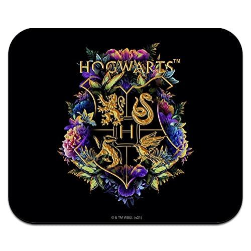Harry Potter Hogwarts Floral Crest Low Profile Thin Mouse Pad Mousepad
