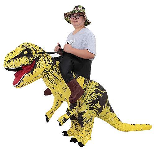 JASHKE Disfraz inflable de Trex disfraz de Navidad de tiranosaurio en T-REX dinosaurio Carnaval vestido para adultos