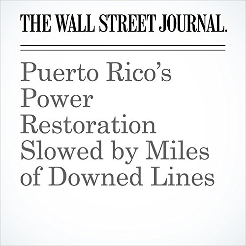 Puerto Rico's Power Restoration Slowed by Miles of Downed Lines copertina