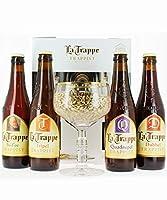 1, 2, 3...4 bières La Trappe à déguster : la blonde, la dubble, la triple et la quadruple ! Avec ce coffret cadeau de bières La Trappe, partez à la découverte du savoir-faire des moines trappistes et de leur recette artisanale utilisant des ingrédien...