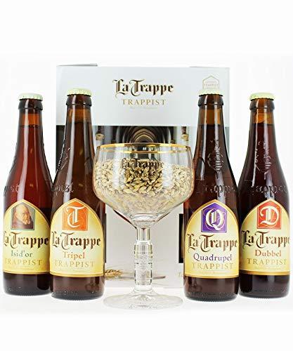 Cerveza Especial Trapense La Trappe Dubbel 4X33 Cl + Copa