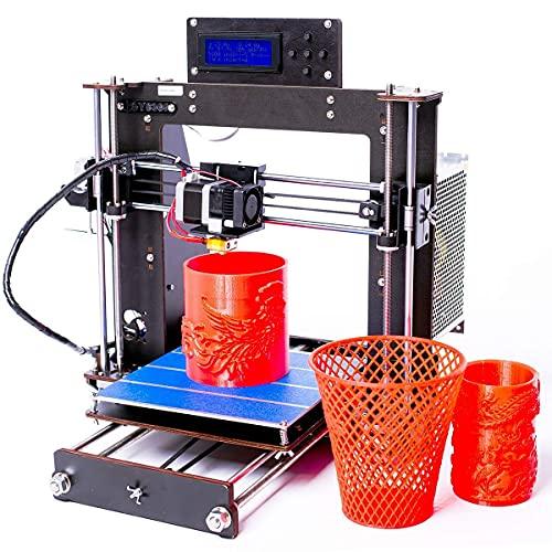 Stampante 3D, CTC aggiorna Prusa I3 DIY LCD Display Scrivania Stampante 3D Kit Alta precisione auto-montaggio dispositivo di stampa con 1.75 mm filamento ABS/PLA, forma 200 × 200 × 180 mm, 1