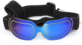 防風ドッグゴーグル、 スイミングペットメガネ 調節可能なストラップ付き 防水 日焼け止め、 中型、小型犬、猫に適しています D