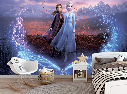 Mural de pared – Disney Frozen – Papel pintado fotográfico Elsa, Anna, Frozen 2 Decoración de pared (144 x 100 pulgadas/366 x 254 cm) Póster gigante de papel para niños dormitorio niña habitación