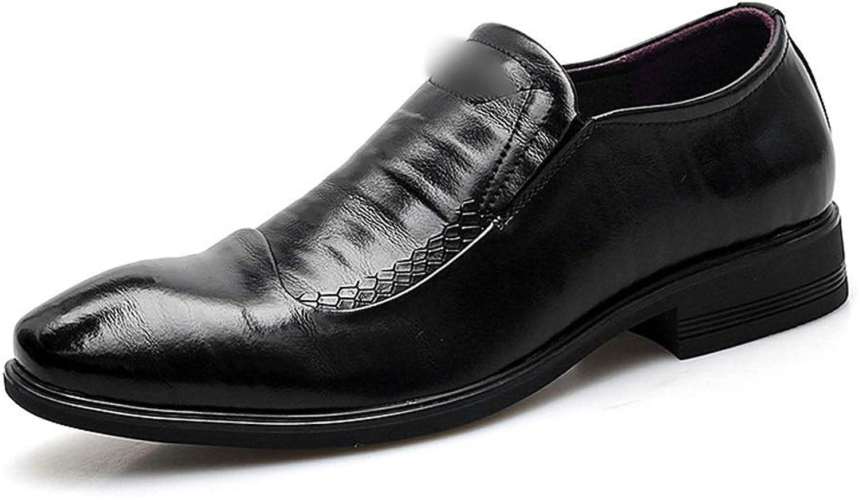 Soft Carved Handmade shoes Formal Men's shoes, Two-Layer Leather Suit, Men's Men's Leather shoes, Cortical (color   Black, Size   44)