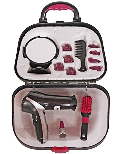 Theo Klein 5872 - Frisierkoffer mit Braun Satin Haartrockner, Spielzeug