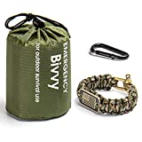 Emergency Blanket for Survival Heavy Duty, Camping Emergency Blankets with A Paracord Bracelet and D Rings for Camping, Hiking and Outdoors Activities