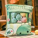 Una bolsa de 8pcs Snack-suave de la felpa del oso del monstruo del gato almohadilla de la felpa creativa animado almohadilla de tiro de la muñeca de la historieta de los juguetes for niños (Color: 4pc