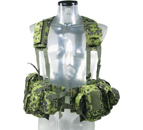 BE-X Kampfmittelweste Ephod/IDF mit Abnehmbarer Erste-Hilfe Tasche - dänisch tarn