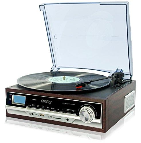 Camry CR 1114 Schallplattenspieler mit MP3/USB/SD und Aufnahmefunktion Mehrfarbig