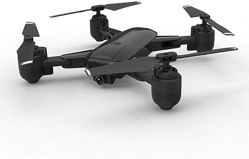 LFLWYJ Drone Pliable, Double Drone De PositionneHommest De Précision Intelligent, Avion Aérien Invité UniqueHommest, Drone 4 Axes (Couleur   Noir)