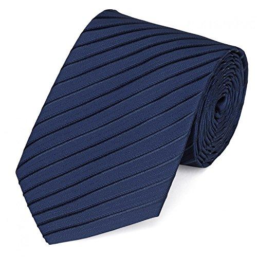 Fabio Farini - Elegante Herren Krawatte gemustert in 8cm Breite in verschiedenen Farben für jeden Anlass wie Hochzeit, Konfirmation, Abschlussball Gestreift Navyblau