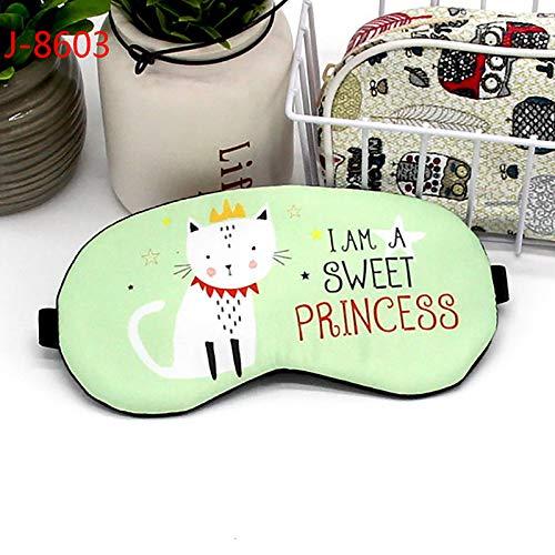 Augenmaske für schlafende Kinder, Karikatur-schlafende Augenmaske, Baumwollschöner Eyeshade-Spielraum entspannen sich Schlafmittel, Spielraum/Nickerchen/Yoga/Flugzeug/Nachtgrün -3