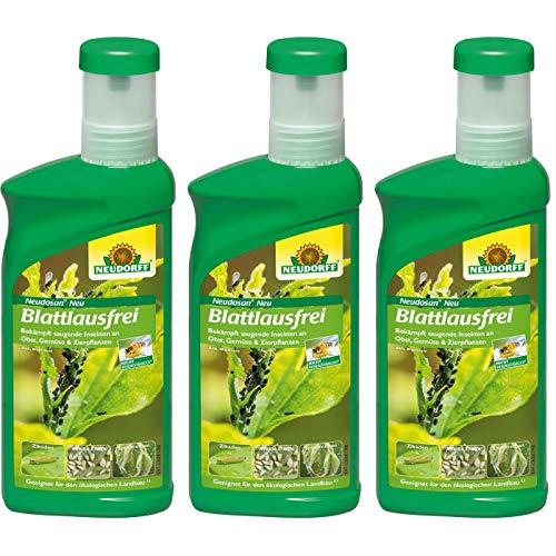 3 x Neudorff Neudosan Neu Blattlausfrei 500 ml sicher bekämpft werden Blattläuse, Blattsauer, Weiße Fliege, Rote Spinne