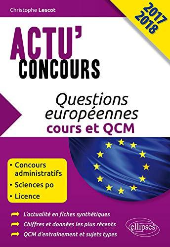Questions Européennes Cours et QCM Actu'Concours 2017 2018