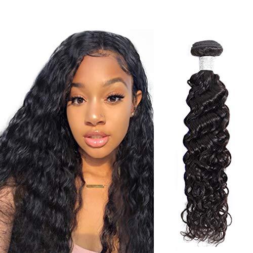 30 Inch Water Wave Human Hair Bundles Long Brazilian Remy Virgin Hair Extension 7a Grade Natural Black Wet and Wavy Weave For Black Women Single Bundle 100g