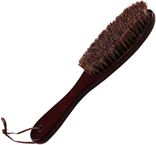 JTKDL Horsehair Shoe Brushes Large Shoe Shine Brush Long Handle Brush for Leather Care Brush Shoes Polish Brush Wooden Care Shine Polish Handle Clean