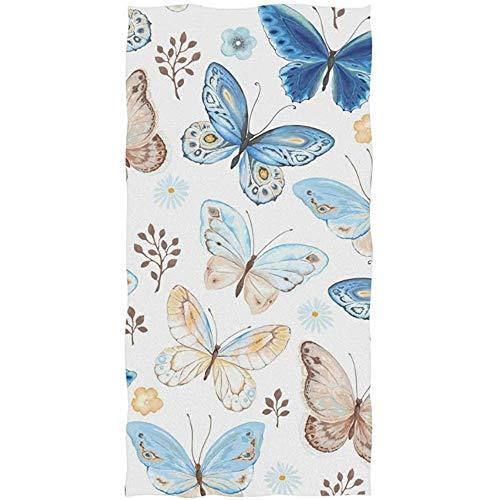 mallcentral-EU Handtuch Badetuch Schmetterling Blumenblume für Gesicht Sport Gym