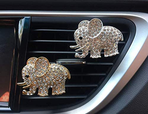 New item 2 Piece Cute Automotive Interior Crystal GoldSi Freshener Bling Department store