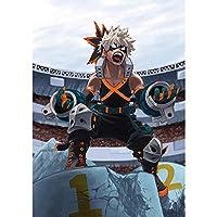 YYTWXL 5DDiyダイヤモンド絵画日本のアニメヒーローアカデミアダイヤモンドモザイク漫画男の子刺?クロスステッチホームウォールクリエイティブデコレーション