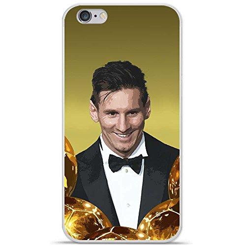 Onozo Carcasa TPU Gel Suave Apple iPhone 6Design Messi el balón de Oro