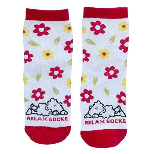 Die Geschenkewelt Sheepworld Schaf und Spruch Relax Socke, Rot, Weiß Geschenkartikel Zaubersocken, 80% Baumwolle, 15% Nylon, 5% Elastan, Größe 36-40