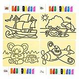 Germerse Art coloré Sable scénique, Dessin Artisanat Bricolage Sable Art Art Illumination Sable Peinture, garçons pour Enfants Enfants Filles