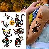 tzxdbh Pintura del Perro del Estilo de 3pcs Verano Pegatinas Lobo del Tatuaje del Tigre Mujeres en el Pecho el Arte de Cuerpo Impermeable Tatuaje Temporal Hombres Brazo Tatto Animales Gato 3pcs 17